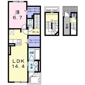 湘南台駅 車16分5.2キロ3階Fの間取り画像