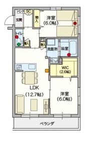(シニア限定)ヴィレッジガーデニア3階Fの間取り画像