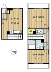 SAIKO23階Fの間取り画像
