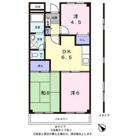鎌倉ビル6階Fの間取り画像