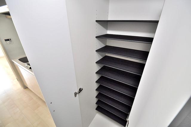 プレシオ小阪 玄関には大容量のシューズボックスがありますよ。