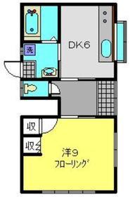八木ハウス1階Fの間取り画像