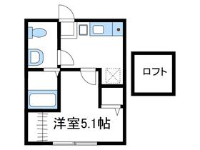 ドミールワタナベ2階Fの間取り画像