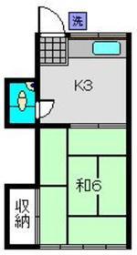杉山荘2階Fの間取り画像