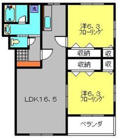 キュリアン橘3階Fの間取り画像
