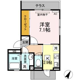 D-room本荘1階Fの間取り画像