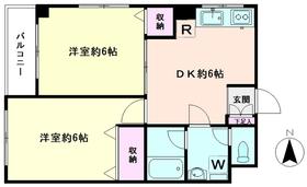 ヤチヨハイム2階Fの間取り画像