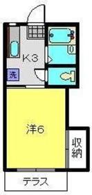 宮澤ハイツ22階Fの間取り画像