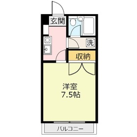 鶴瀬オークビル1階Fの間取り画像