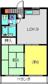 綱島駅 徒歩6分2階Fの間取り画像