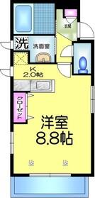 コーポ シオン1階Fの間取り画像