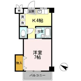 ミラ上星川4階Fの間取り画像