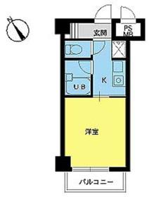 スカイコート新宿第88階Fの間取り画像