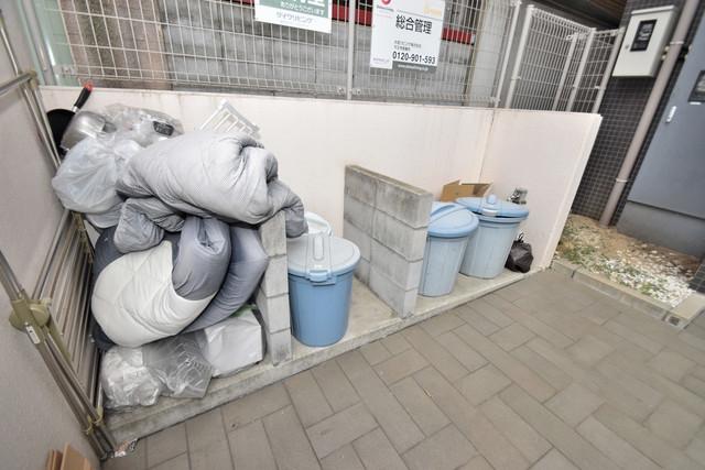 ソレイユ真田山 朝が弱い方でも安心夜でも出せる嬉しい敷地内ゴミ置き場。