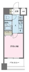 ドゥーエ新川9階Fの間取り画像