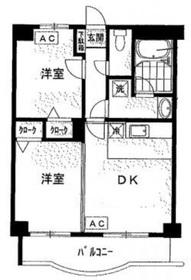 コア・シティ新横浜4階Fの間取り画像