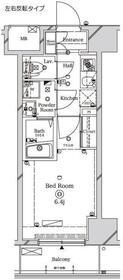 ラフィスタ川崎Ⅱ9階Fの間取り画像