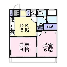シェルブルー2階Fの間取り画像