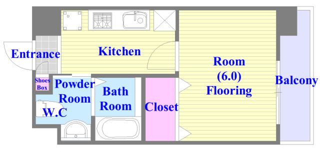 Amabile小路 人気の全室フローリング。収納スペースも充実しています。