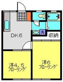 斉藤ハイツ1階Fの間取り画像