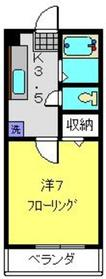 新川崎駅 徒歩15分2階Fの間取り画像