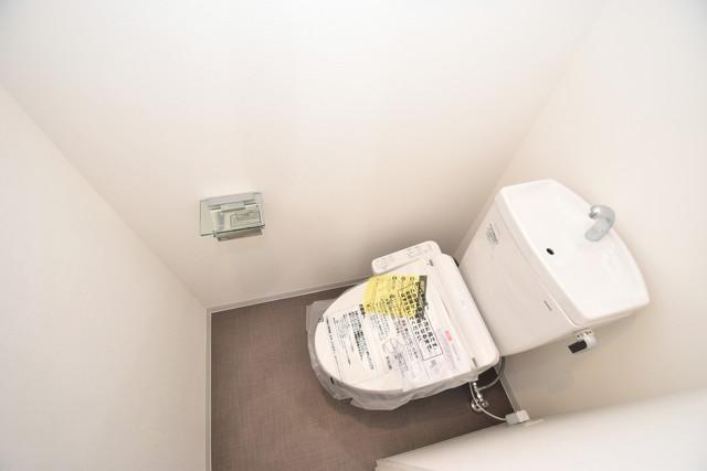 メルベージュ布施 白くてピカピカのトイレですね。癒しの空間になりそう。