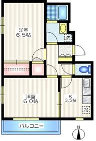 メゾンY2階Fの間取り画像