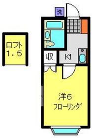 エスポワールスミヨシ2階Fの間取り画像