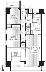 品川駅 徒歩11分5階Fの間取り画像