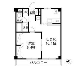 新幸マンション2階Fの間取り画像