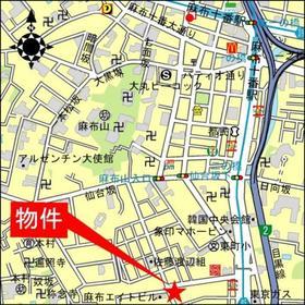 麻布十番駅 徒歩8分案内図