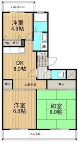 グリーンヒル湘南Ⅱ3階Fの間取り画像