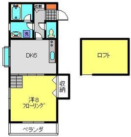 シャッセ中原2階Fの間取り画像