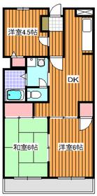 下赤塚駅 徒歩20分3階Fの間取り画像