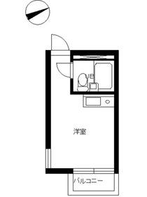 スカイコート品川2階Fの間取り画像