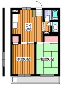 地下鉄赤塚駅 徒歩9分3階Fの間取り画像