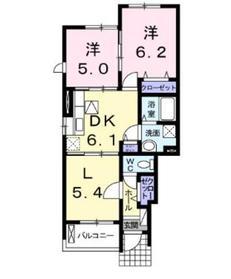 カーサヴェルデ1階Fの間取り画像