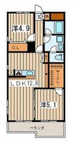 パラシオン栄昇4階Fの間取り画像