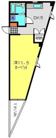 武蔵小杉駅 徒歩5分5階Fの間取り画像