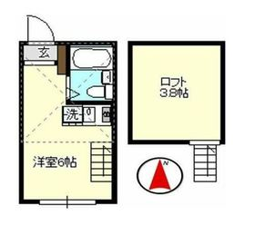 KAINOS弘明寺2階Fの間取り画像