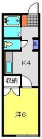 セブンコーポ2階Fの間取り画像