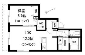 ラポール西新宿1階Fの間取り画像