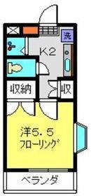 Kビル2階Fの間取り画像