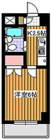 ドゥジェームシュロス6階Fの間取り画像