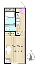 レオパレスリーブラ1階Fの間取り画像