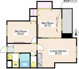 ハイム カンパーナ3階Fの間取り画像