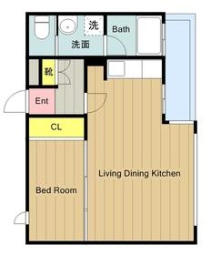 ライトウェル青戸4階Fの間取り画像