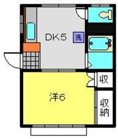 サンハウスK1階Fの間取り画像