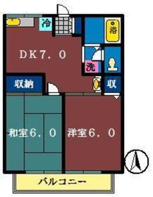 メゾンダジュール5番館1階Fの間取り画像