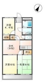 ノース・リッチ1階Fの間取り画像